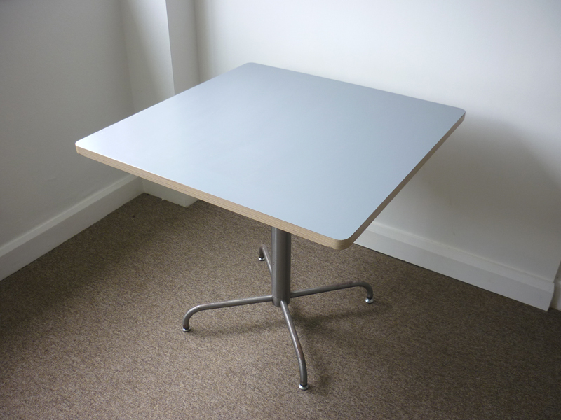 Light grey square cafe table