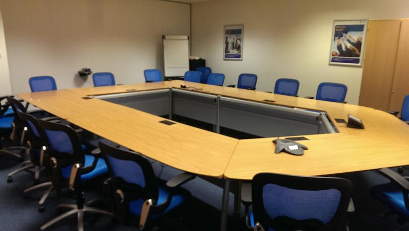 Senator Intrigue oak veneer training suite of tables
