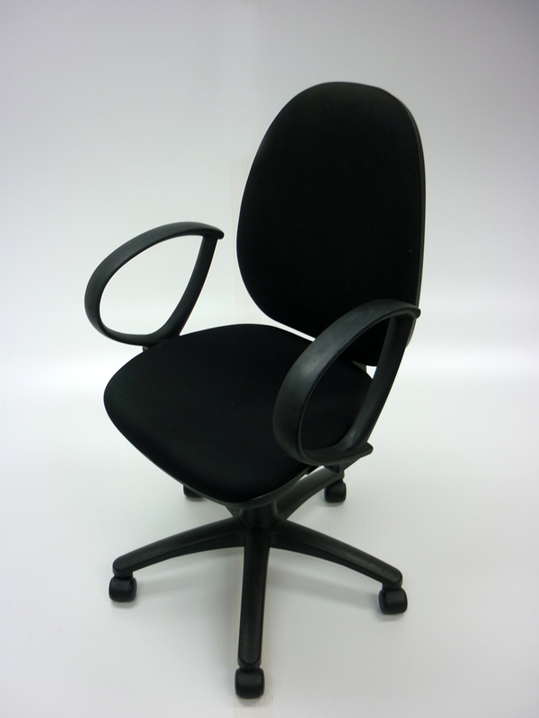 Black 2 lever operator chairs with black loop arms