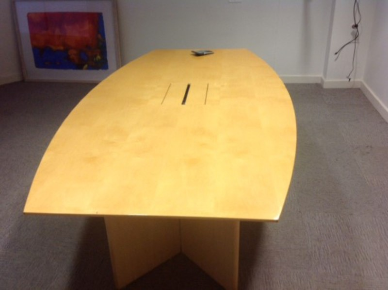 2400x1200mm maple barrel shaped table