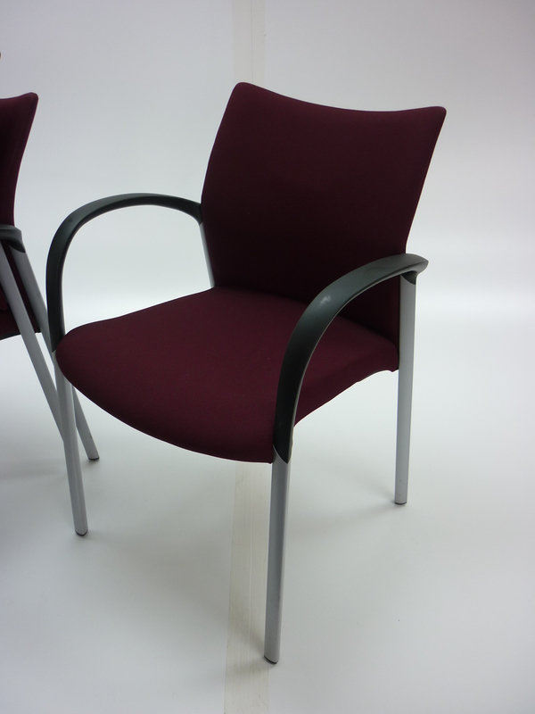 Senator Trillipse burgundy 4 leg stacking chair (CE)