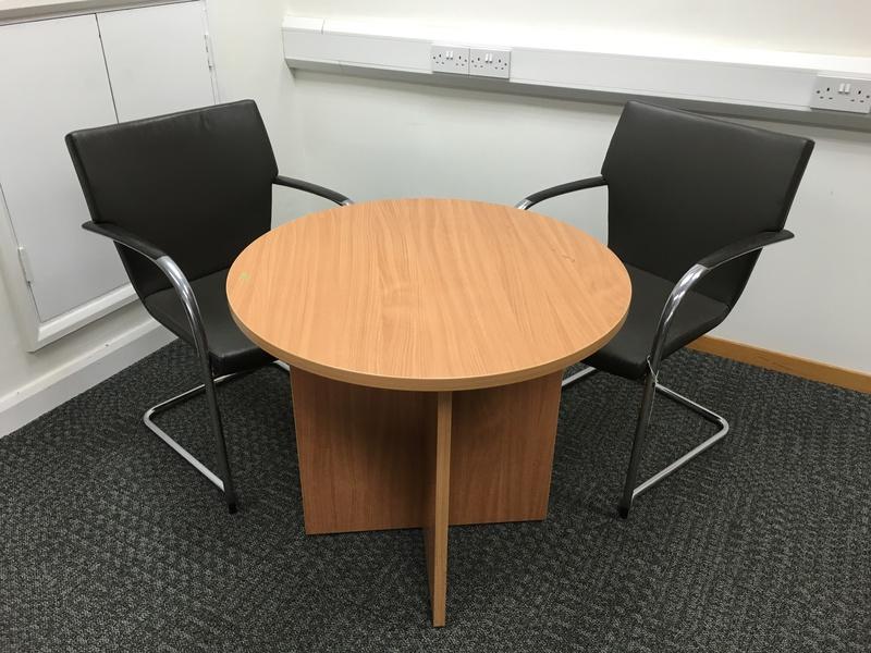 800mm & 1000mm diameter beech meeting tables (CE)