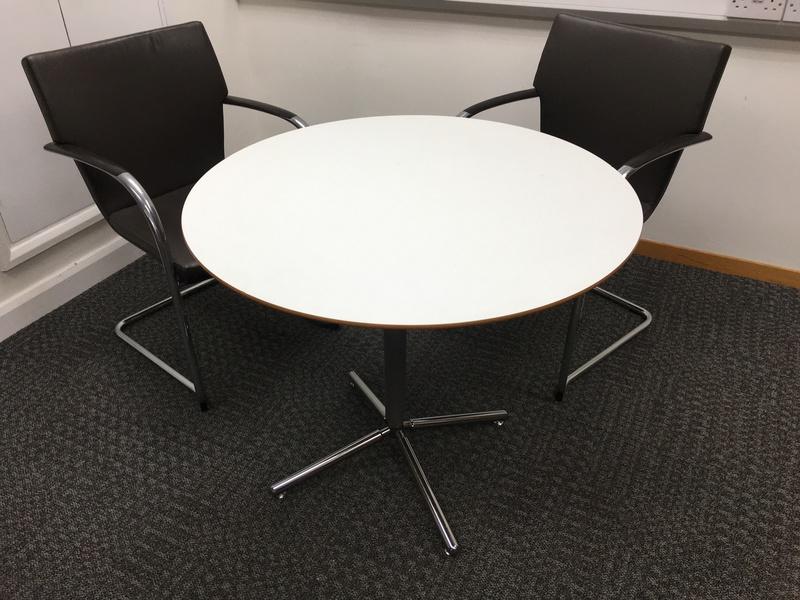 900mm diameter Allemuir white table (CE)