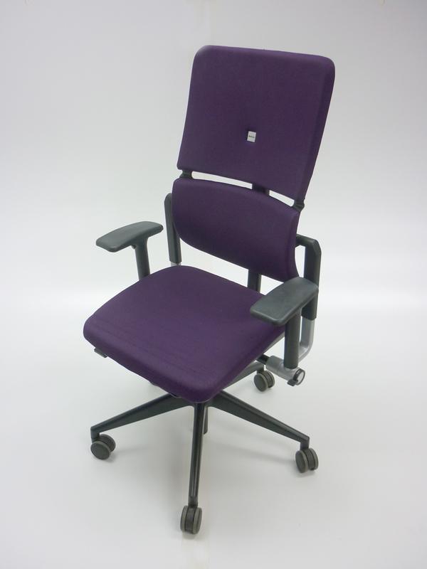 Purple Steelcase Please task chair