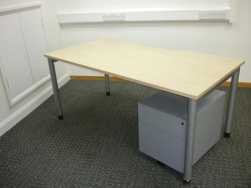 Senator maple rectangular 1600w mm desk