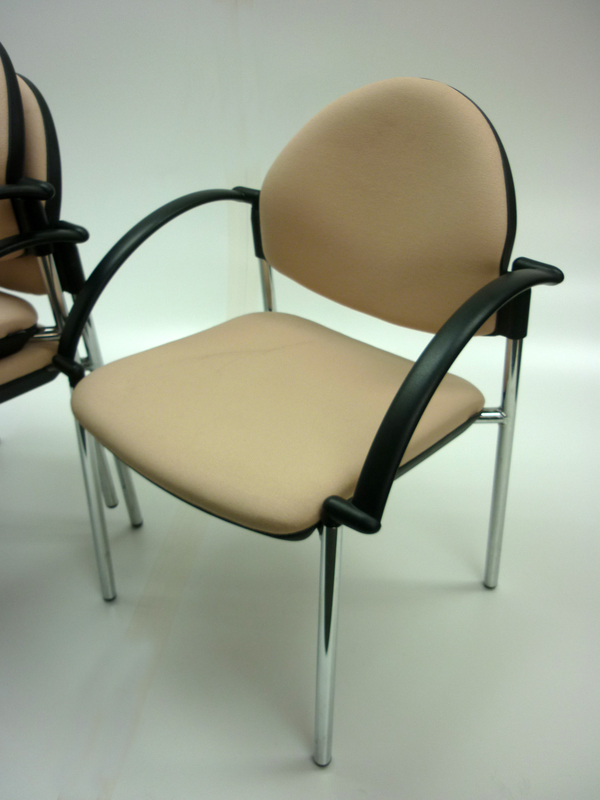 Beige Verco Focus stacking chairs