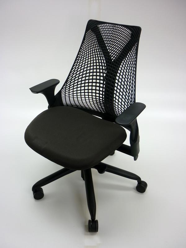 Herman Miller Sayl black task chair