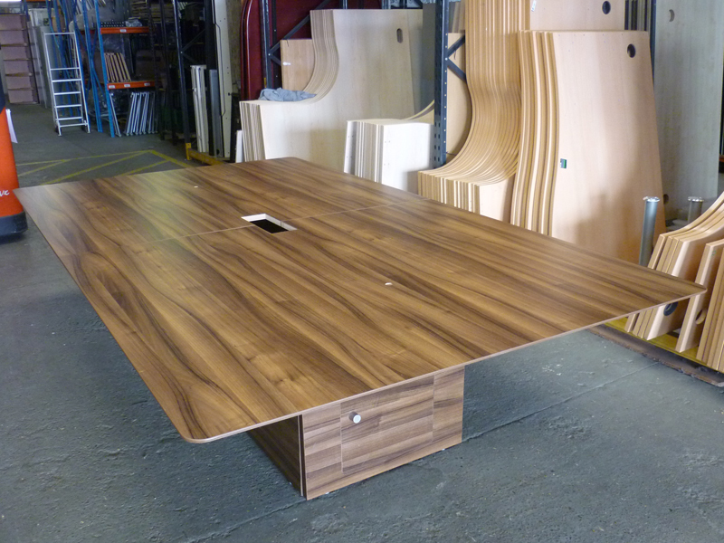 Walnut 3200x1800mm boardroom table