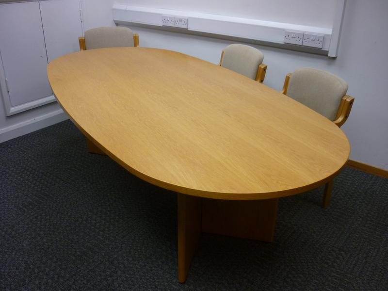 Oak veneer boardroom table