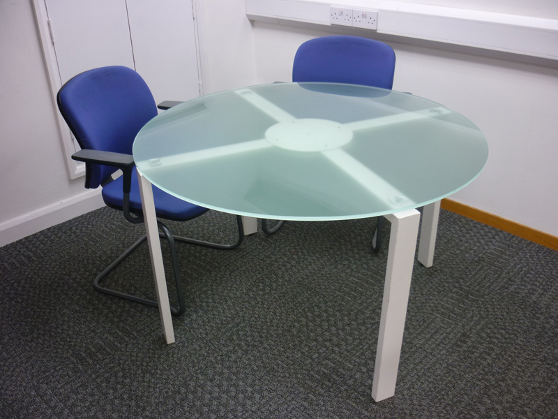 1180mm diameter glass conference table