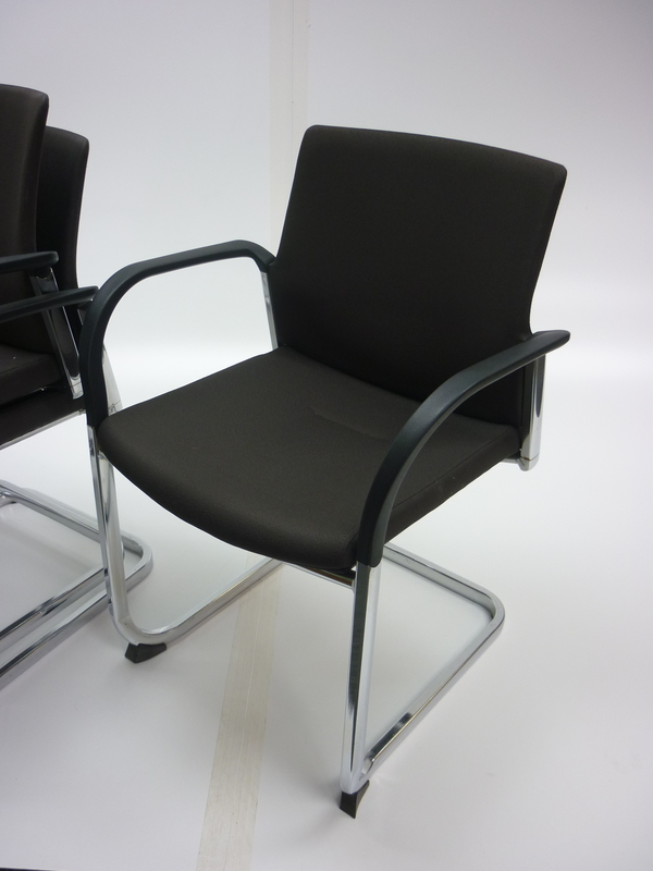 Connection Is brown stackable meeting chairs