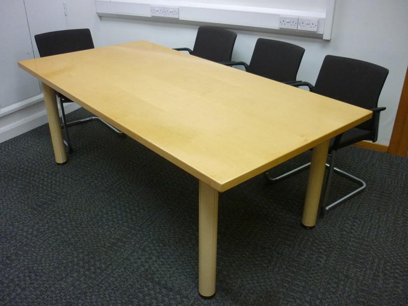 2000 x 1000mm Verco Hi-Line maple boardroom table
