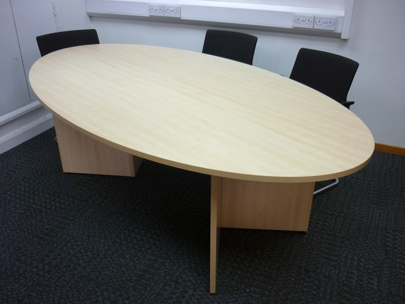 2200 x 1200mm maple oval table