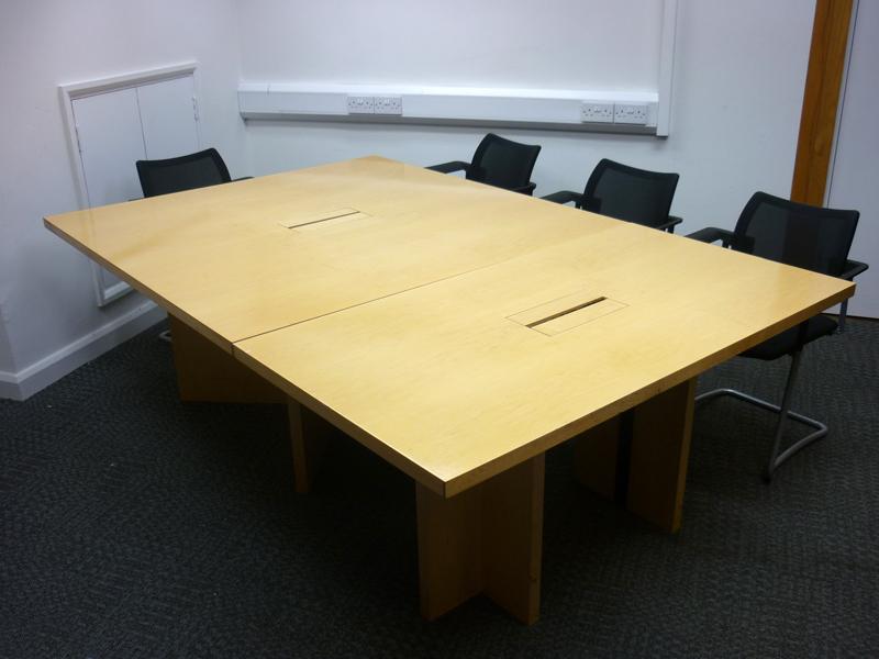 2300 x 1500mm maple veneer table