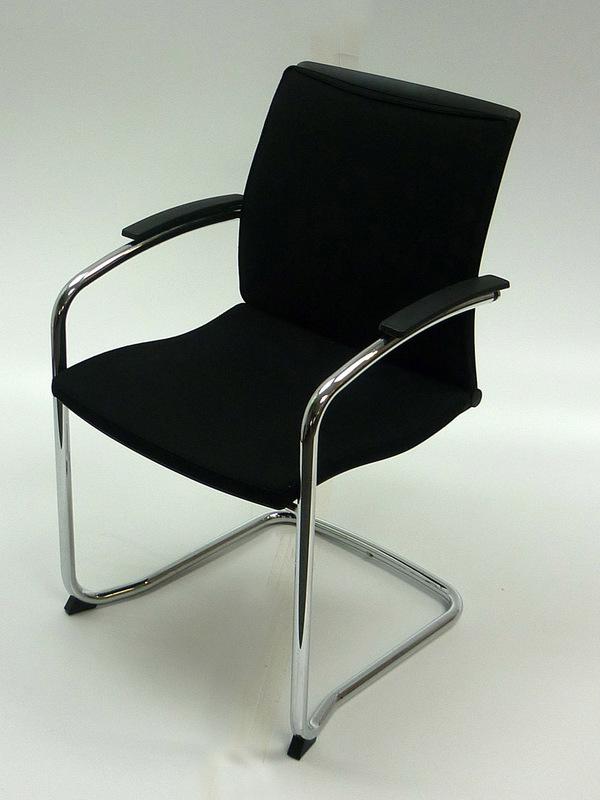 Black fabric Sedus UP233 Open UP meeting chair