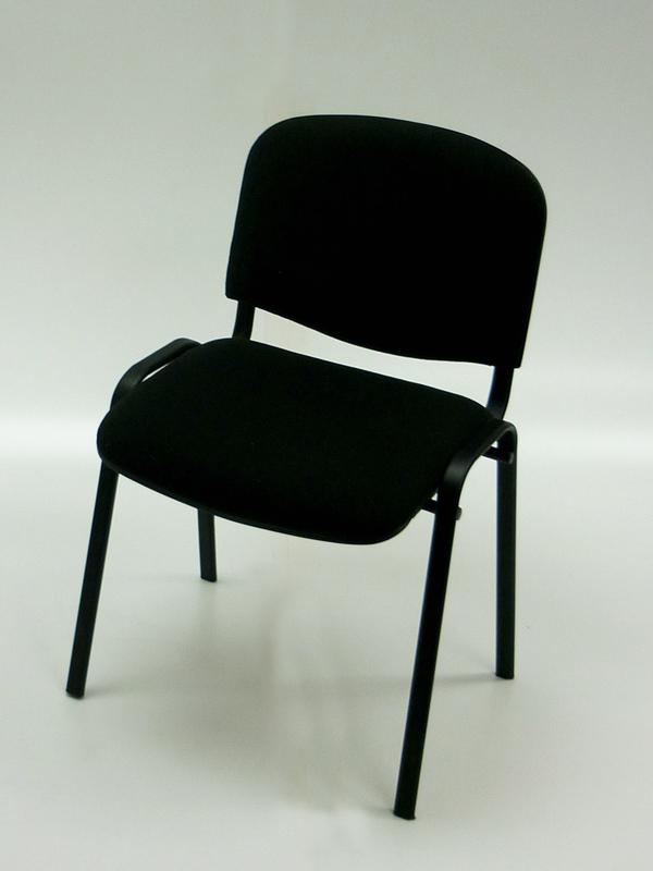 Black stacking Club chair
