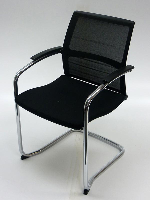 Black mesh back Sedus UP233 Open UP meeting chair