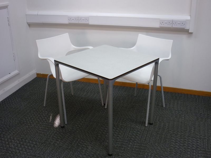 700x700mm square grey canteen table