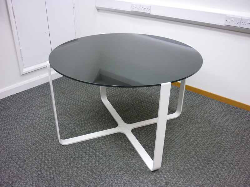 1200mm Glass top meeting table