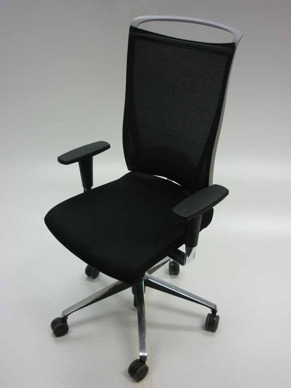 Black high back task chair