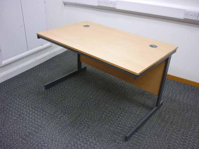 1200x600mm beech Dams rectangular desk