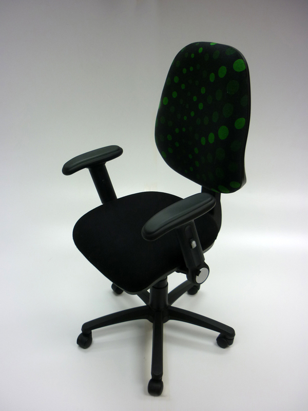 Funky black and green task chair