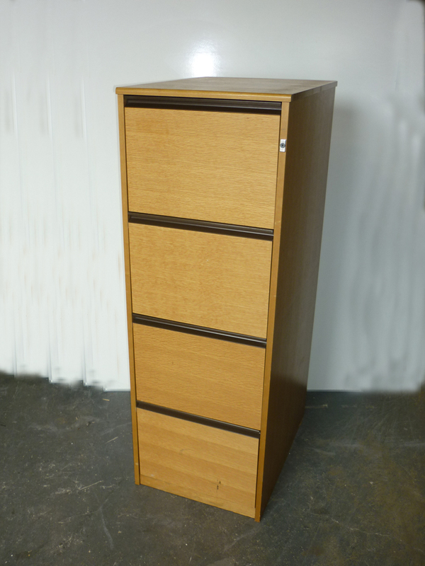 Oak Dams 4 drawer filing cabinets