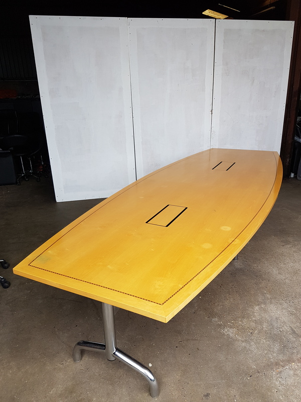 3600 x 1350mm Tula boat shaped Boardroom table