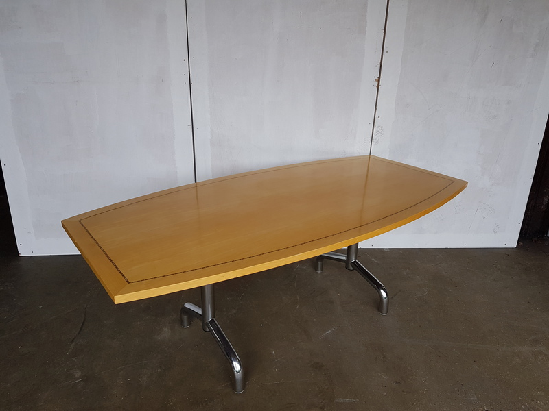 2400 x 1200mm Tula boat shaped Boardroom table CE
