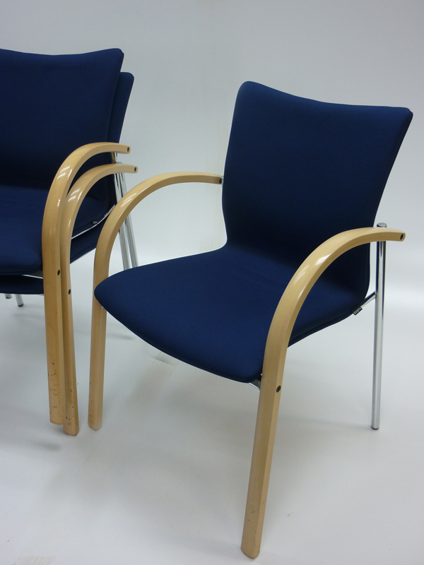 Blue Verco AXXA stacking meeting chair