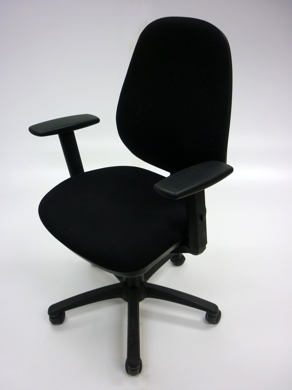 Black 2 lever operator chairs with arms
