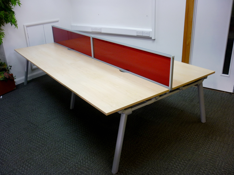 Maple 1600mm Senator bench desking
