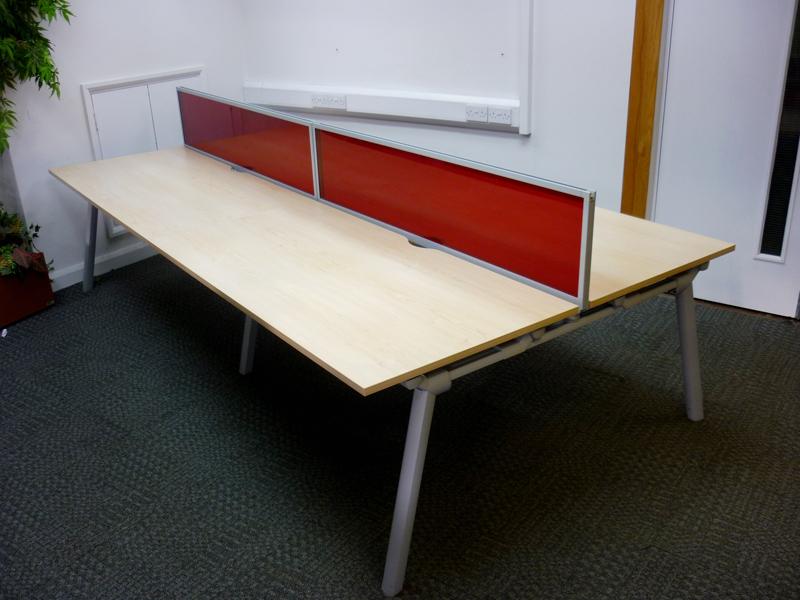 Maple 1600mm Senator bench desking