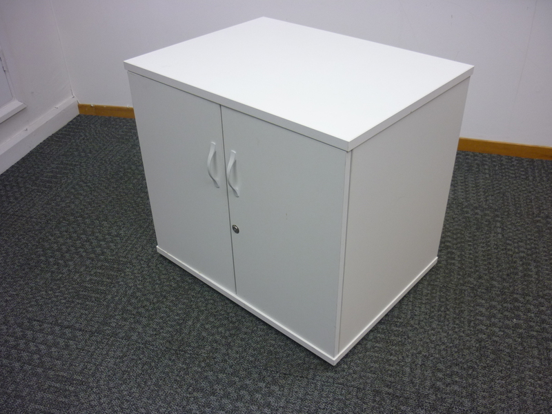 Desk high white cupboard