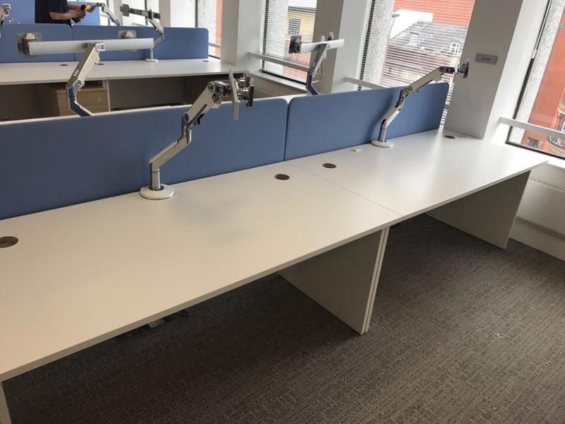 1600mm wide light blue fabric screens