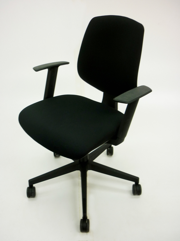 AS NEW Black Nomique Tally 2 operator chairs with arms