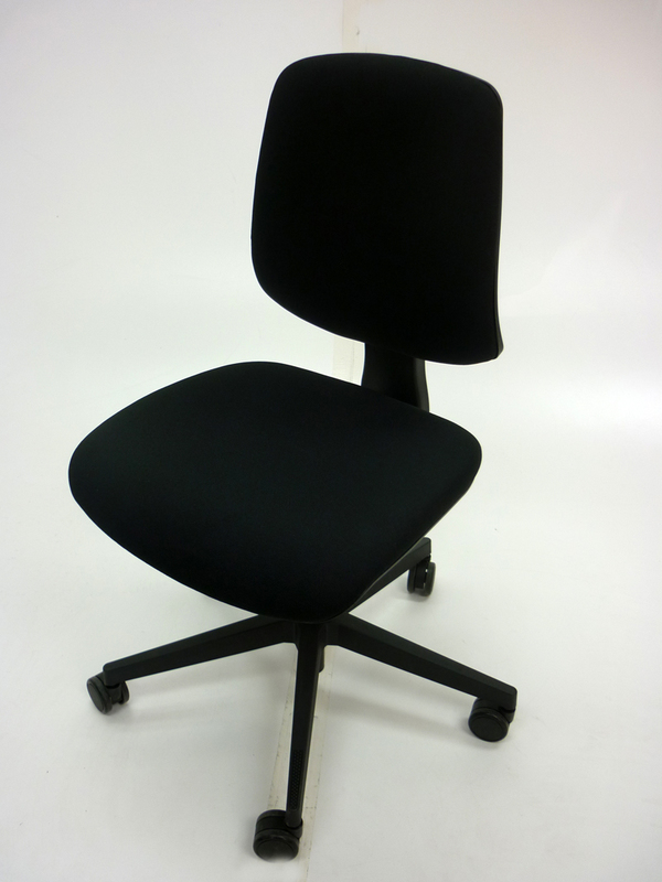 Black Nomique Tally 2 operator chairs no arms
