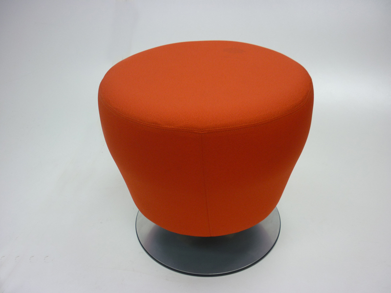 Orangebox Point red soft stool