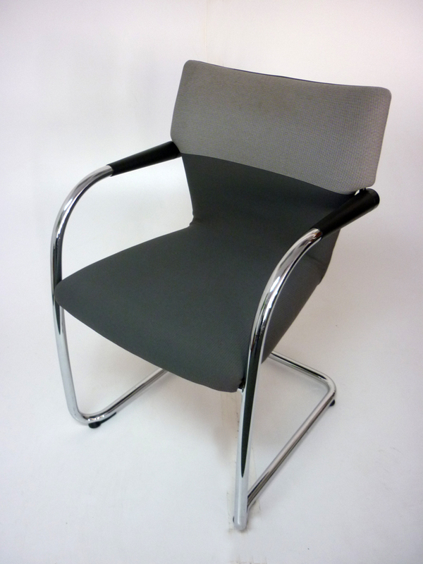 Vitra Visastripes grey two tone stacking chairs