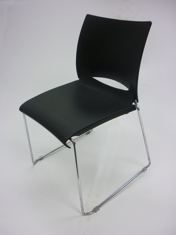 Patra Icon black plastic stacking chairs