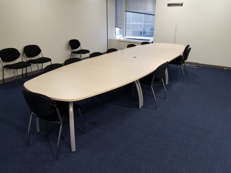 6000 or 4800 x 1400900mm Gresham maple boardroom table
