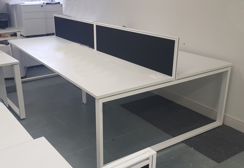 White 1400x800mm Borden Arba bench desks