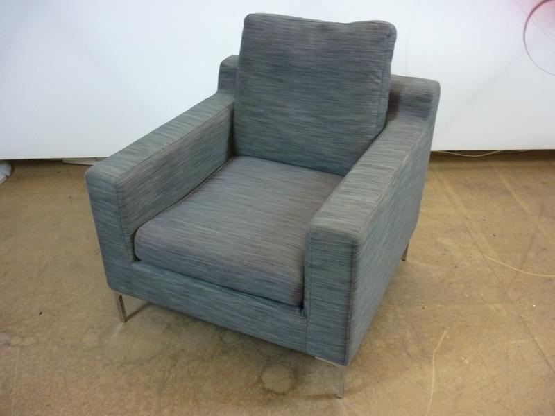 Dwell Oslo grey armchairs