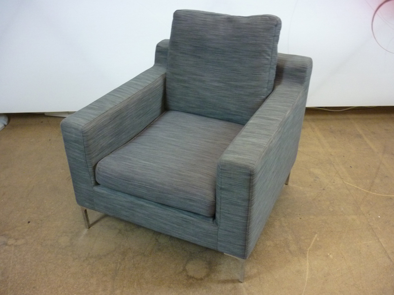 Dwell grey sofa and armchairs