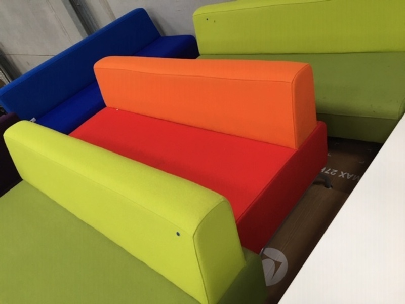 Herman Miller two tone 2 seater sofas