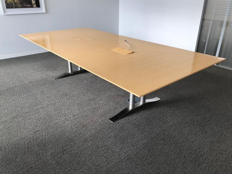 3000x1400mm Luke Hughes maple veneer table