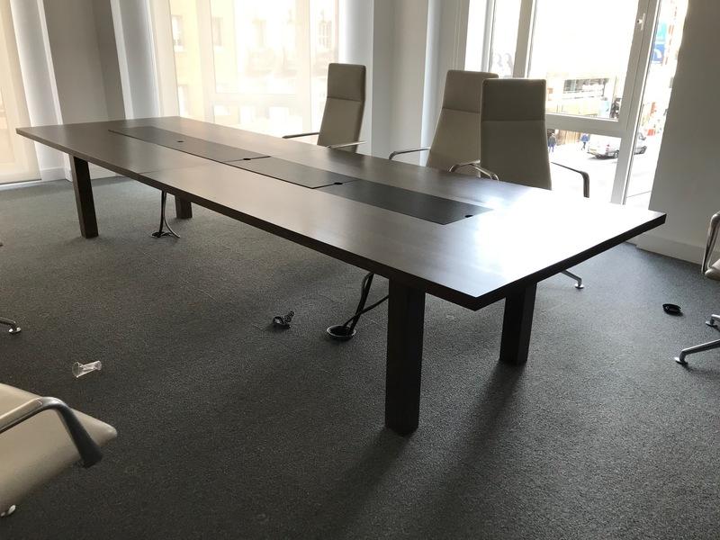 4000x1250mm dark walnut boardroom table