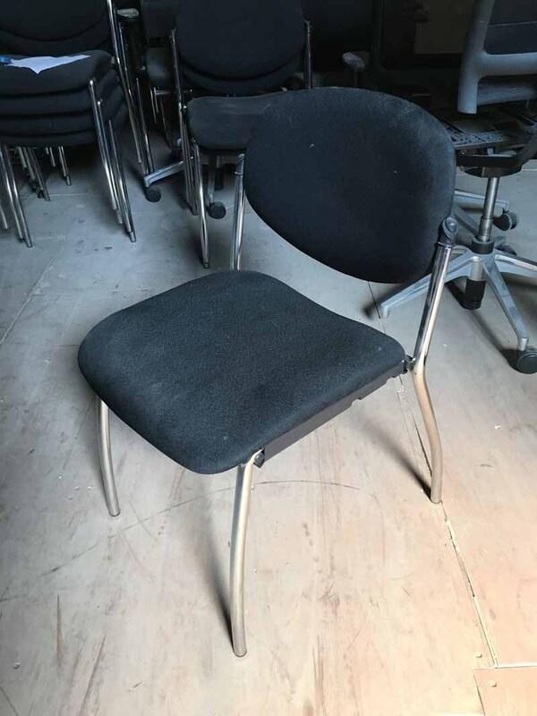 Black 4 leg stacking chairs
