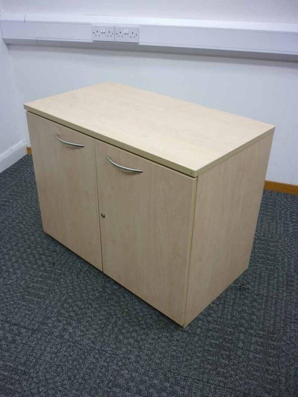 Maple desk high cupboard