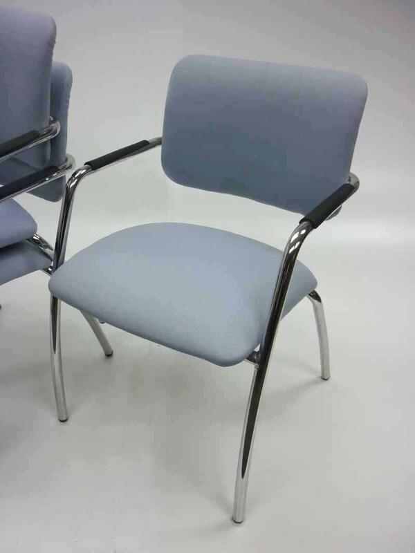 Light grey Gresham Metric Plus stacking chairs